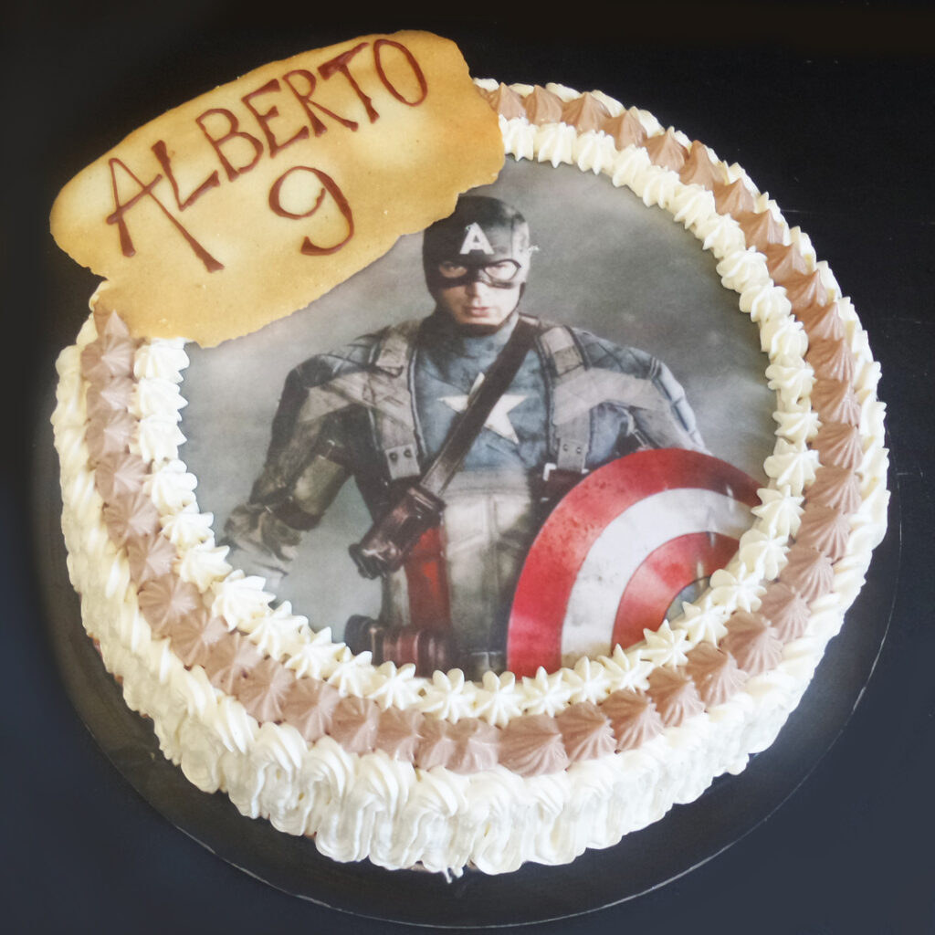 Chantilly cioccolato capitan america