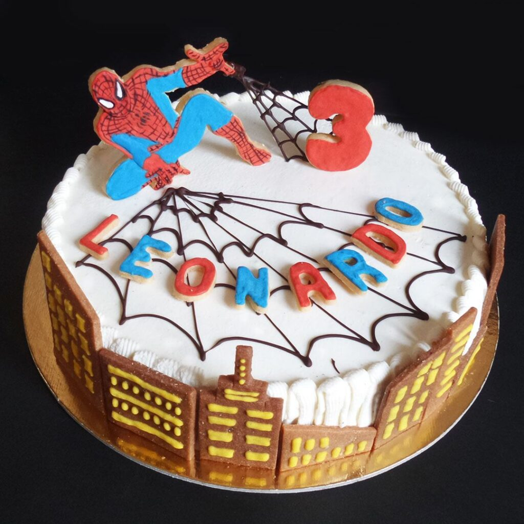Chantilly a tema Spiderman,