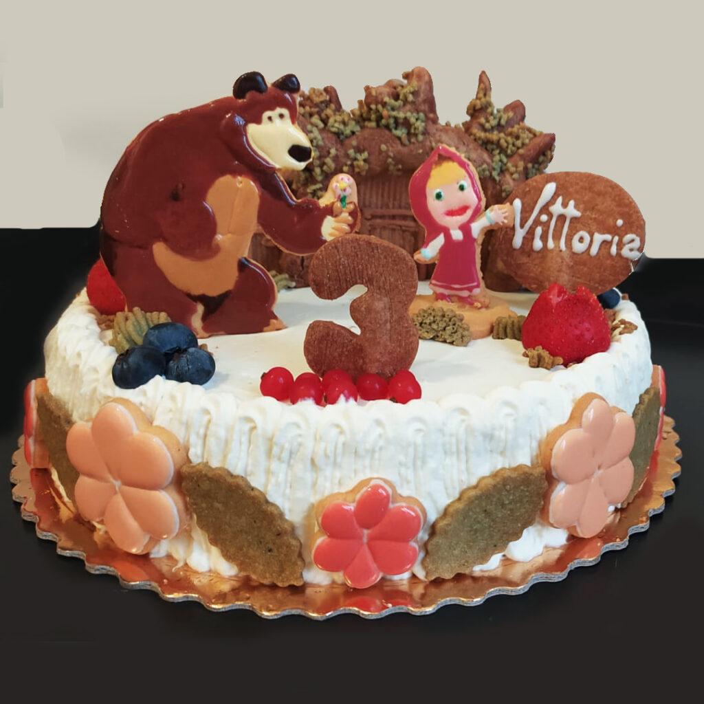 torta masha e orso frolla artistica